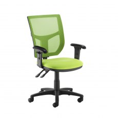 Jory 480 Mesh Back Office Chair With Adjustable Arms - Green