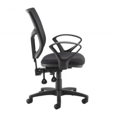 Jory 780 Mesh Back Office Chair With Fixed Arms - Black