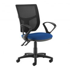 Jory 780 Mesh Back Office Chair With Fixed Arms - Black and Blue