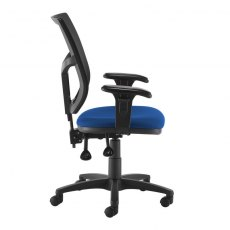 Jory 880 Mesh Back Office Chair Adjustable Arms - Black and Blue
