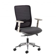 Valdis Mesh Back Office Chair Adjustable Arms - Black and Grey