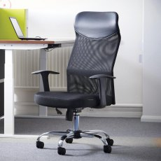 Lagina Mesh Deluxe High Back Office Chair - Black