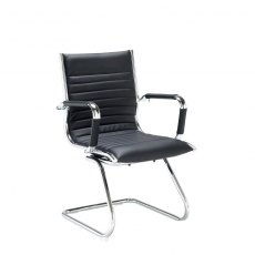 Kojo Padded Occasional Chair - Black and Chrome