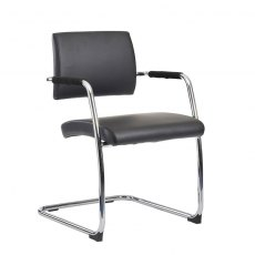 Tyrik Designer Occasional Chair - Black and Chrome