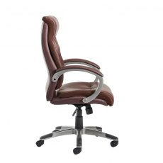 Pasco Indulgent Swivel Managers Office Chair - Brown