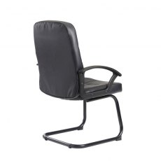 Linos Deep Padded Occasional Office Chair - Black