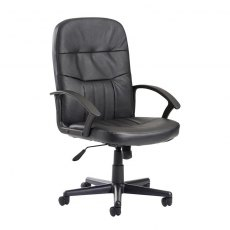 Linos Swivel Deep Padded Office Chair - Black