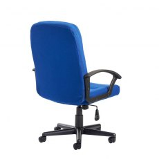 Linos Swivel Deep Padded Fabric Office Chair - Blue
