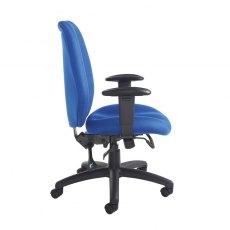 Zipla Deep Padded Fabric Office Chair Adustable Arms - Blue