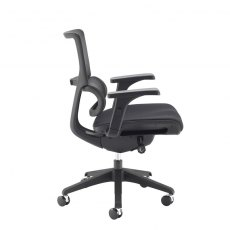 Kristo Mesh Back Swivel Office Chair Adjustable Arms - Black
