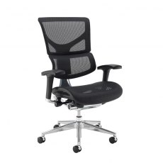 Kleon Mesh Seat and Back Swivel Office Chair - Black