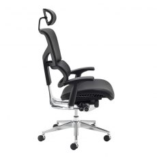 Zeemos Max Swivel Office Chair With Headrest - Black