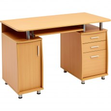 Emperor Desk With Cupboard & Drawers