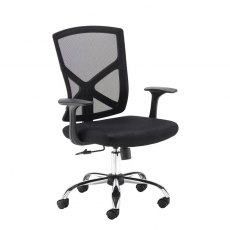 Timos Mesh Back Swivel Office Chair - Black