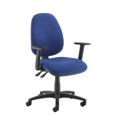 Zeenus 530 Fabric Ajustable Arms Swivel Office Chair - Blue