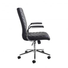 Sitora Executive Swivel Office Chair - Chrome and Black