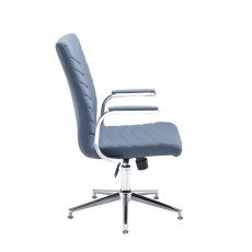 Sitora Executive Swivel Office Chair - Chrome and Grey