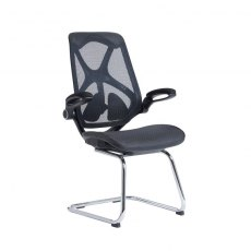 Kapel Mesh Back Fixed Leg Office Chair - Black