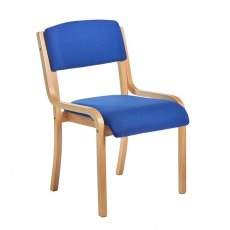 Nesta Wooden Frame Conference Chair No Arms - Blue