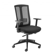 Spiris Mesh Back Swivel Office Chair With Arms - Black