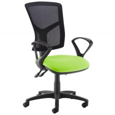 Katia 340 Fixed Arms Swivel Office Chair - Black and Green