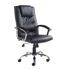 Umara Deep Padded Managers Swivel Office Chair - Black