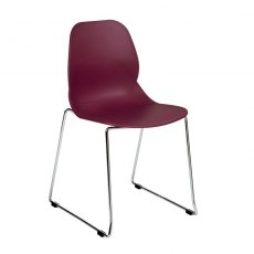 Anwen Star Sled Leg Cafe and Dining Chair - Plum