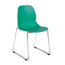 Anwen Star Sled Leg Cafe and Dining Chair - Turquoise