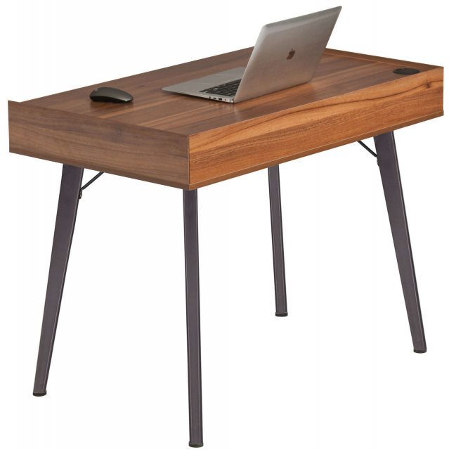 Piranha Furniture Trigger Compact Desk With Drawer - Brown Oak