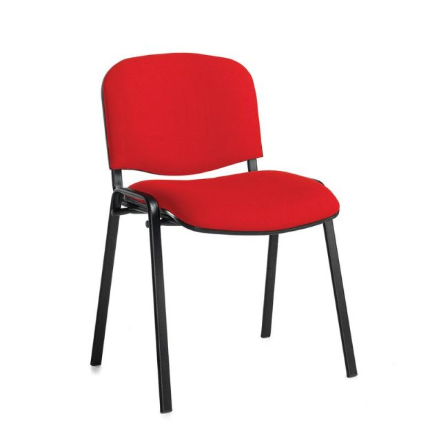 Home In Nodin Padded Stackable Conference Chair - Red
