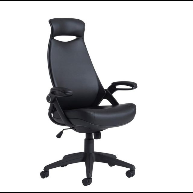 Home In Umara Lux Swivel Office Chair With Headrest - Black