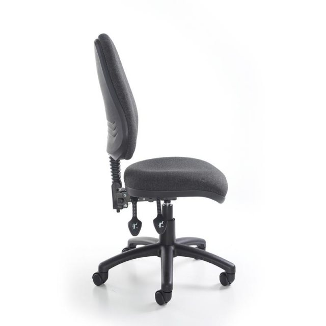 Home In Altiro 370 Fabric Swivel Task Office Chair - Charcoal