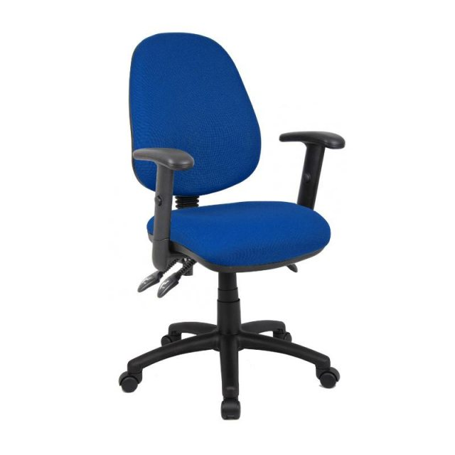 Home In Altiro 770 Fabric Swivel Office Chair Adjustable Arms - Blue