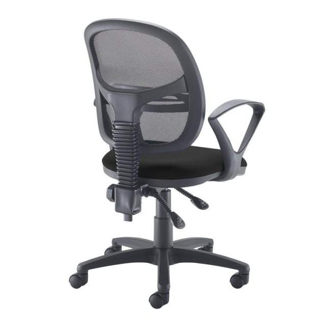 Home In Orlena 260 Mesh Back Fixed Arms Office Chair - Black
