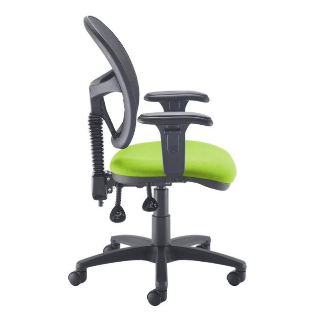 Home In Orlena X Mesh Back Adjustable Arms Office Chair - Black Green