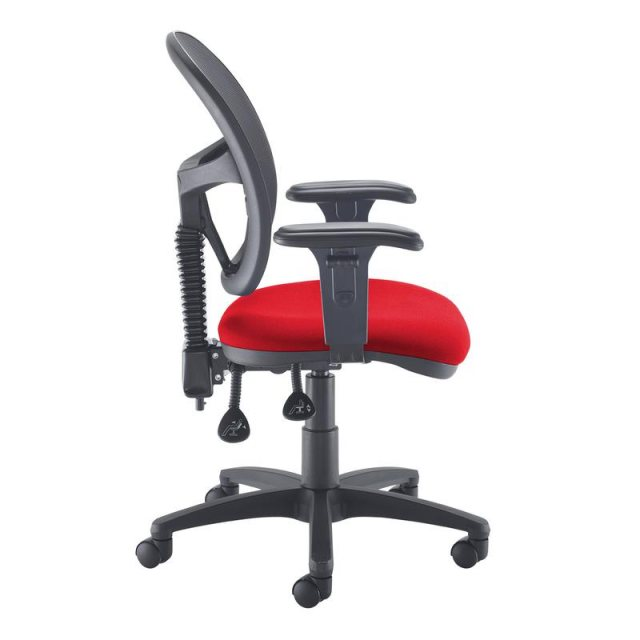 Home In Orlena X Mesh Back Adjustable Arms Office Chair - Black Red