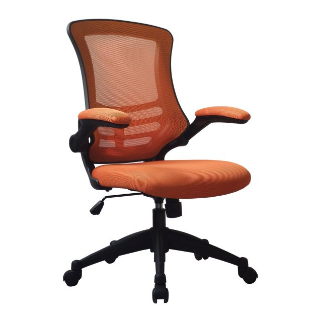 Home In Meir Mesh Back Office Swivel Chair - Orange