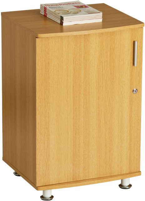 Piranha Furniture Bowfin Lockable Desktop Extension Cabinet - Oak
