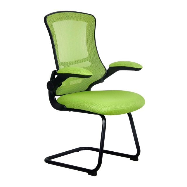 Home In Meir Mesh Back Visitors Chair - Green