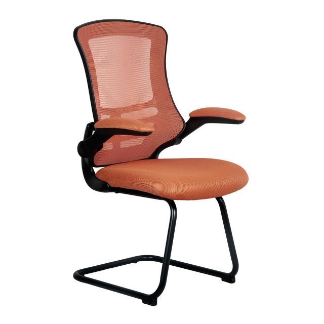 Home In Meir Mesh Back Visitors Chair - Orange