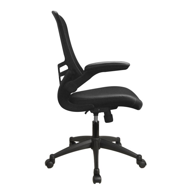 Home In Stride Airflow Mesh Back Office Chair - Black