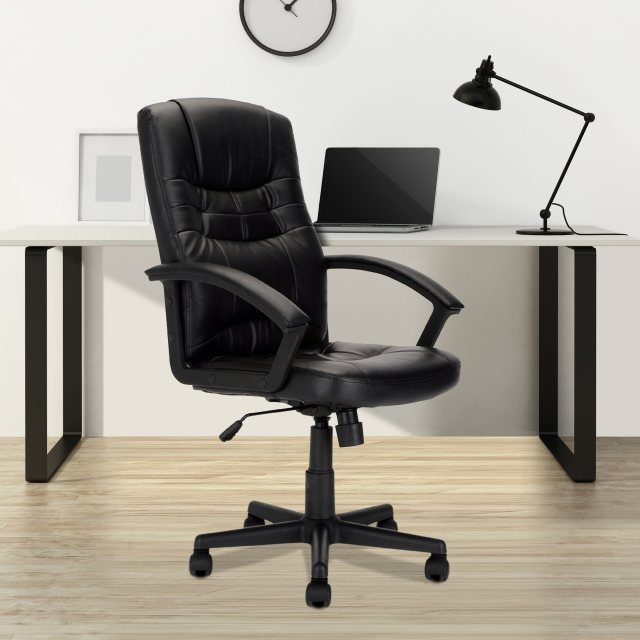 Home In Zaha High Back Executive Office Chair - Black