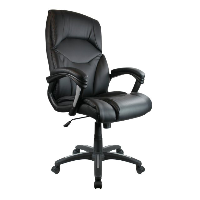 Home In Hadfield Executive High Back Swivel Chair - Black