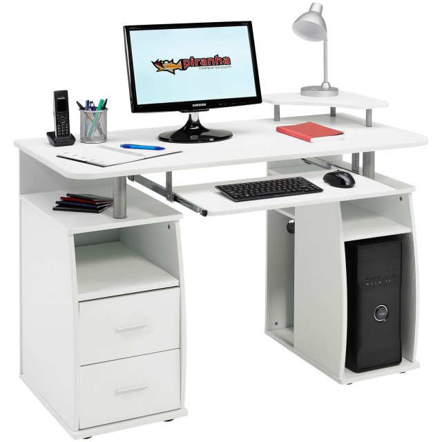 Piranha Furniture Tetra Desk With Cupboard & Drawers