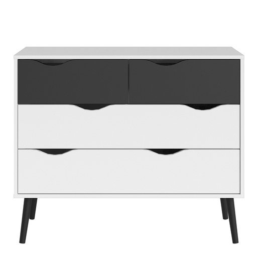Home In Zala Chest of Drawers - White and Black