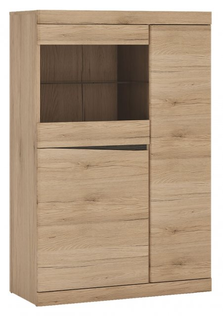 Home In Wanaka 3 Door Cabinet with Display Window