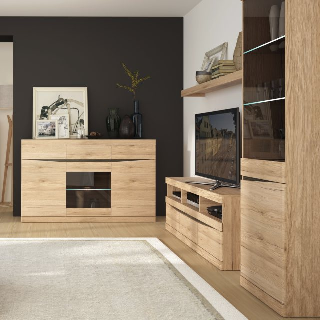 Home In Wanaka TV Unit with Open Slot