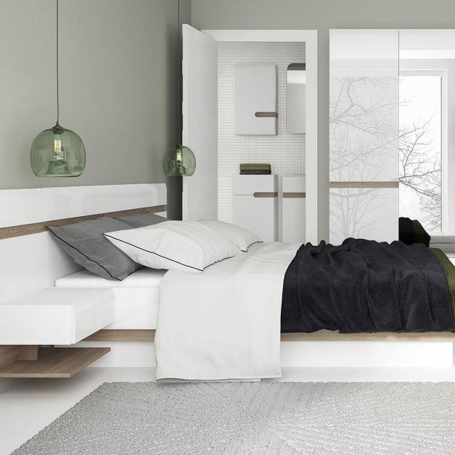 Home In Chelsea Kingsize Lift Up Bed - White