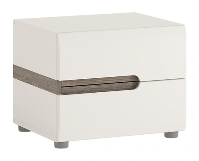 Home In Chelsea Bedside Table - White