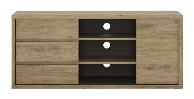 Home In Shetland 3 Slot TV Cabinet